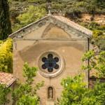 L'extérieur de la chapelle du Monastère de Ségriès en Provence
