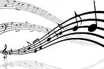 musique notes noir blanc