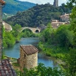 the village of Olargues, France
