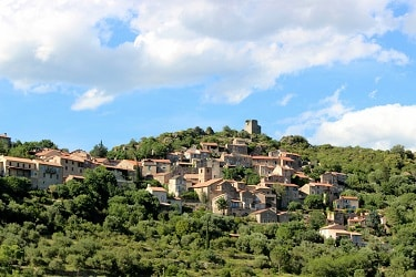 Vieussan, village languedoc, France