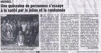2014 article chemin de la sante dauphine libere mini - On parle de nous...