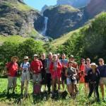 Photo d'un groupe d'un stage de jeûne et randonnée de CHEMIN DE LA SANTÉ à Champagny dans les Alpes