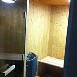 Le sauna dans l'espace détente aux chalets le Sabot de Vénus et Le Gaulois à Champagny