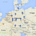 Carte Google Maps des cliniques de jeûne en Allemagne
