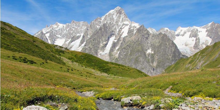 riviere prairie val ferret grandes jorasses une semaine de jeune diaporama - Tour du Mont Blanc en jeûnant