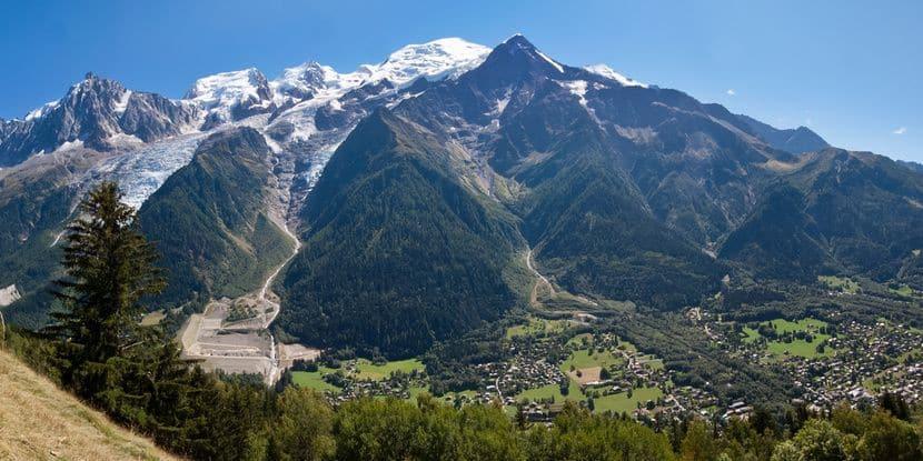 vue sommee chamonix tour du mont blanc jeune et randonnee diaporama - Tour du Mont Blanc en jeûnant
