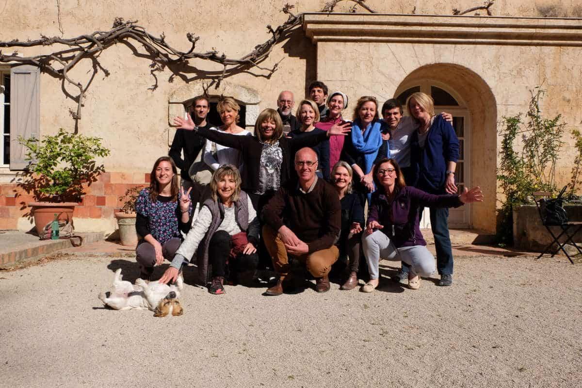 Photo de groupe jeûne et randonnées monastère de ségries jeûne thérapeutique